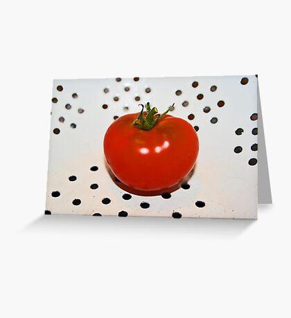 ...tomato in colander... Greeting Card