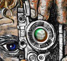 Retro Hipster Selfie II Sticker
