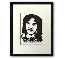 Inigo Montoya Princess Bride Hello Framed Print