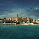 The Ribat from the Ocean by mariarty