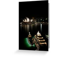 Super-villain yachts in Sydney Harbour Greeting Card