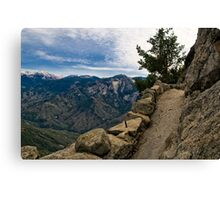 Up Moro Rock with a View Canvas Print