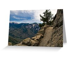 Up Moro Rock with a View Greeting Card