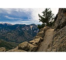 Up Moro Rock with a View Photographic Print