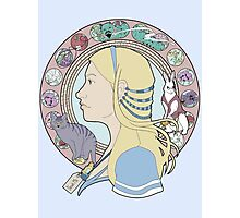 Alice in Wonderland Colorful Art Nouveau  Photographic Print