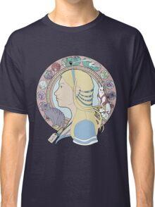 Alice in Wonderland Colorful Art Nouveau  Classic T-Shirt