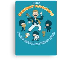 Super Awesome Ninja Army Canvas Print