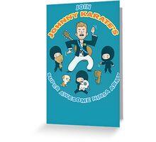Super Awesome Ninja Army Greeting Card