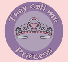 Children's Design They Call Me Princess One Piece - Short Sleeve