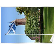 The Saltire Flying High at Arbroath Abbey Poster