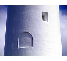 Squares and Arches - close up view of lighthouse Photographic Print