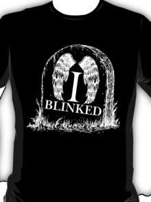 Doctor Who I Blinked Gravestone T-Shirt