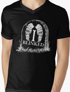 Doctor Who I Blinked Gravestone Mens V-Neck T-Shirt