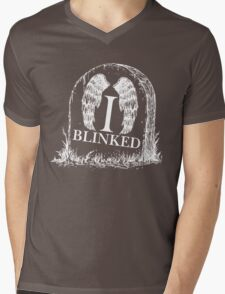 Doctor Who I Blinked Gravestone Mens V-Neck T-Shirt