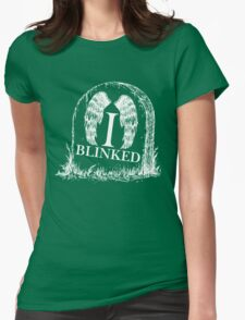 Doctor Who I Blinked Gravestone Womens Fitted T-Shirt