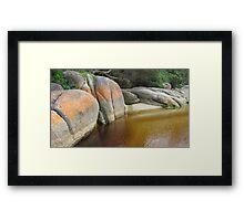 Tidal River Rocks Framed Print