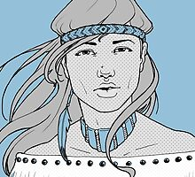 Pop Art American Indian by Christina Smith