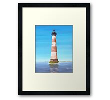 Morris Island Lighthouse Charleston SC A001 Framed Print