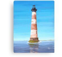 Morris Island Lighthouse Charleston SC A001 Canvas Print
