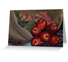Little apples Greeting Card