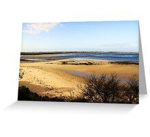 Sand Bar - Barwon Heads Bluff Victoria Australia Greeting Card