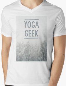 Yoga Geek Mens V-Neck T-Shirt
