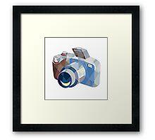 Camera DSLR Low Polygon Framed Print