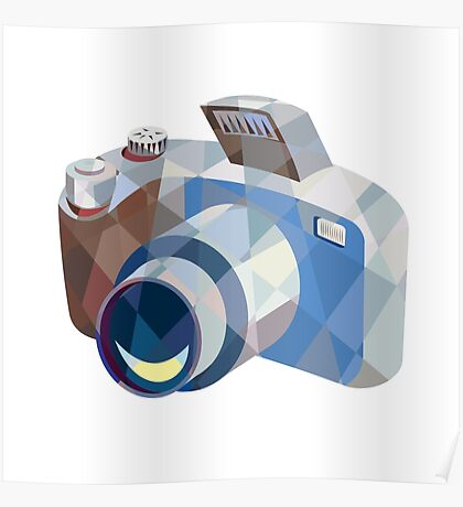 Camera DSLR Low Polygon Poster