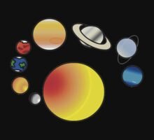 solar system in color by Michelle Whelan