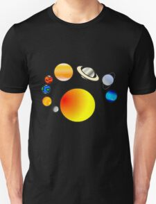 solar system in color T-Shirt