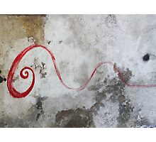 Red Swirl Photographic Print