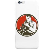 Scientist Lab Researcher Chemist Microscope Retro iPhone Case/Skin
