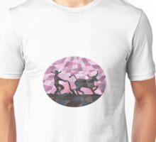 Southeast Asian Farmer Water Buffalo Plowing Low Polygon Unisex T-Shirt