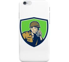 World War Two American Soldier Talk Radio Shield iPhone Case/Skin