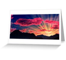 Northlands Sunset Greeting Card