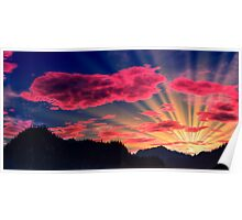 Northlands Sunset Poster
