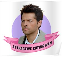 Attractive Crying Man Poster