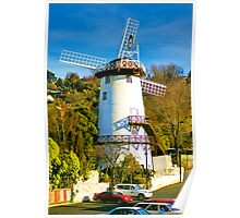 Afternoon at the windmill in Launceston Poster