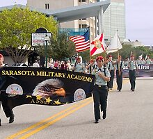 Sarasota Military Academy In Parade by Memaa