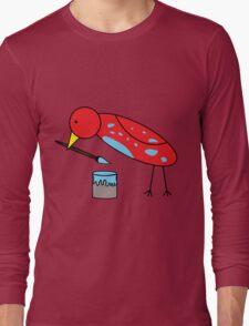 Bird Brush Long Sleeve T-Shirt