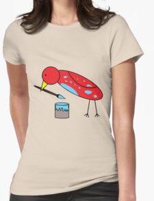 Bird Brush Womens Fitted T-Shirt