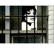 ' Behind Bars'-Graffiti Fitzroy Photographic Print
