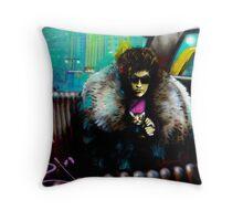 'Bob's Cat'_ Graffiti Fitzroy Throw Pillow