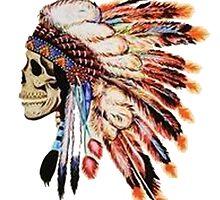 Indian Skull Headdress by purplehayes