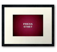 Push Start Framed Print