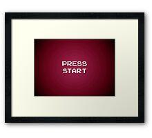 Push Start Framed Print