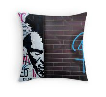 'Just another Brick in the Wall'-Graffiti Throw Pillow
