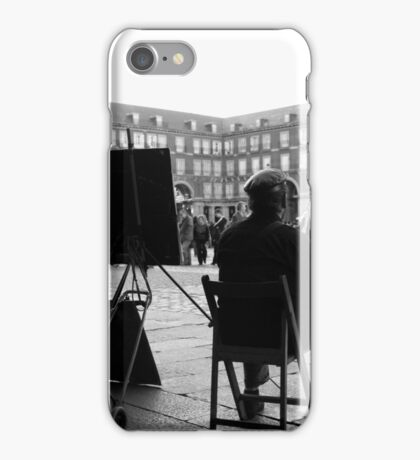 Dibujante en la Plaza Mayor iPhone Case/Skin