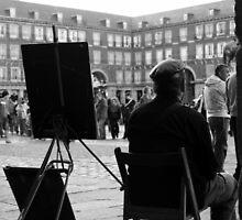 Dibujante en la Plaza Mayor by Alvaro L.Valcarcel