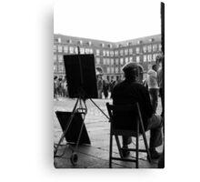 Dibujante en la Plaza Mayor Canvas Print